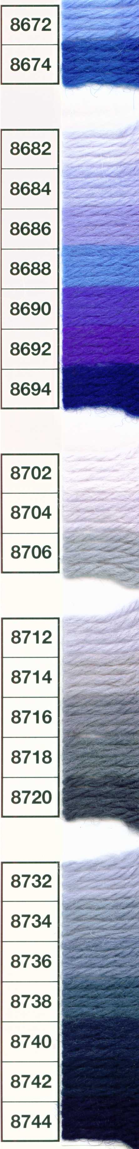 Anchor Tapestry Wool 10m Skein Shade 8682 Lots of individual colours listed