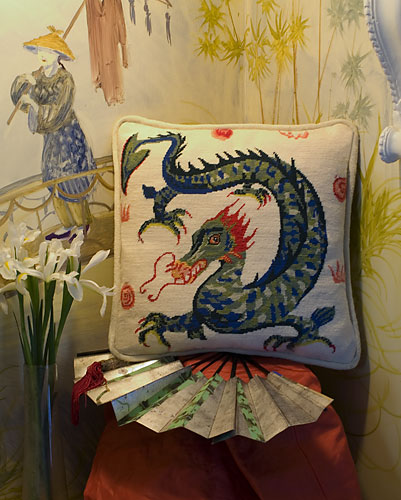 Oriental Dragon Tapestry Kit