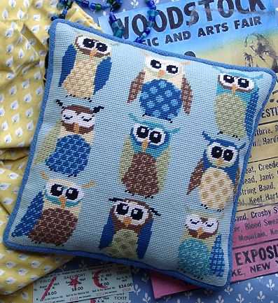 Retro Owls Tapestry Kit