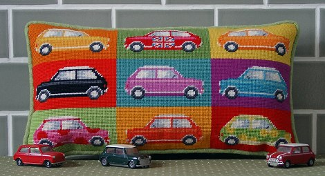 'Pop Art Mini Cars' Tapestry Kit