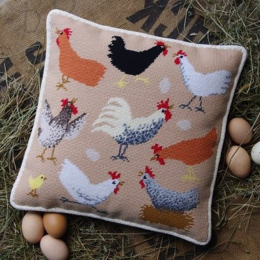 'Chickens' Tapestry Kit