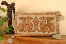 Tapesty Pillow: William de Morgan 'Sands End's Griffins' Cream Colourway