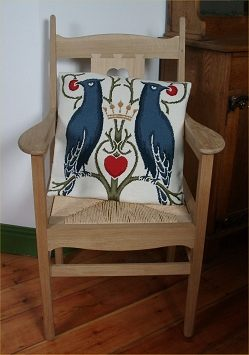 Charles Voysey 'Birds and Berries' Tapestry Pillow