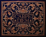 Carpe Diem Tapestry Pillow - Blue Colourway