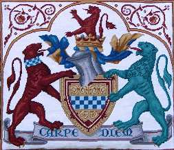 Medieval 'Coat of Arms' tapestry hanging>