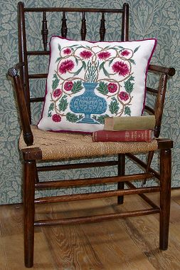 William Morris floral tapestry pillows