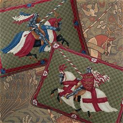 'England and France' Jousting Knights Tapestry kits