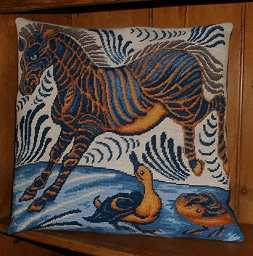 William de Morgan tapestry kit 'Zebra and Ducks'