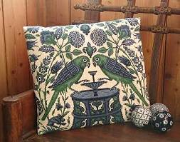William de Morgan tapestry kit 'Parrots at a Fountain'
