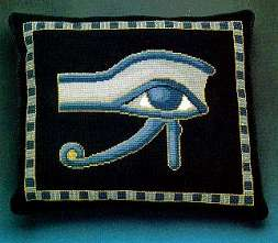 Ancient Egyptian Sacred Eye tapestry pillow
