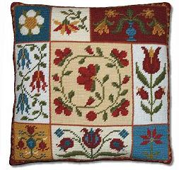 Shaker Patchwork Flowers tapestry kit