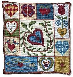 Shaker Patchwork Hearts tapestry kit