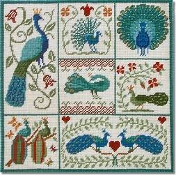 Shaker Patchwork Peacocks Tapestry Kit