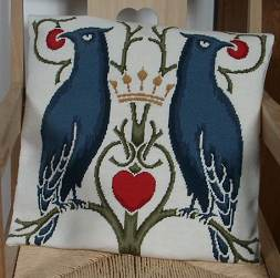 Charles Voysey tapestry kit 'Birds Berries and Crown