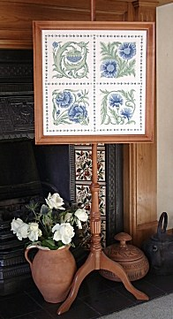 Floral counted cross stitch kit inspired by William de Morgan