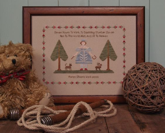19th Century Counted Cross Stitch Sampler