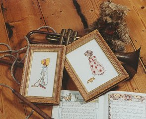Counted cross stitch kits inspierd by Kate Greenaway