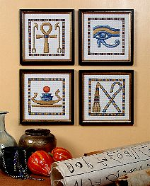 Egyptian Symbols Counted Cross Stitch Collection