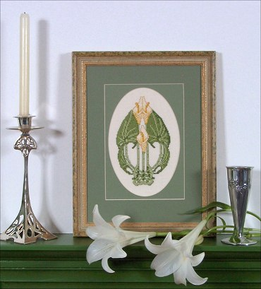 'Beauclair Lillies' counted cross stitch kit