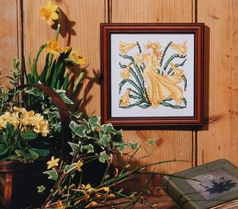 Counted Cross Stitch Kit: Walter Crane 'Daffodil'