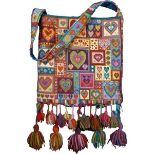 Animal Fayre Little Hearts Patchwork Tapestry Bag Kit