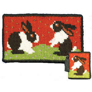 Animal Fayre Rabbits Tapestry Needlecase Kit