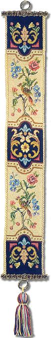 Beverley Trammed Tapestry: Chippendale Bellpull with Petit Point #2