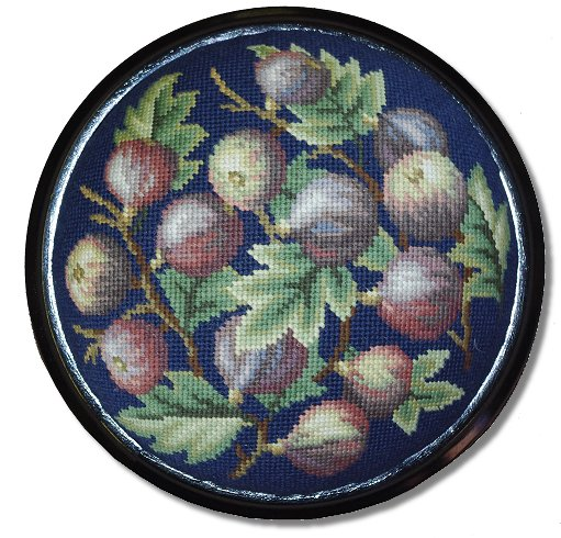Beverley Trammed Tapestry: Figs Cushion