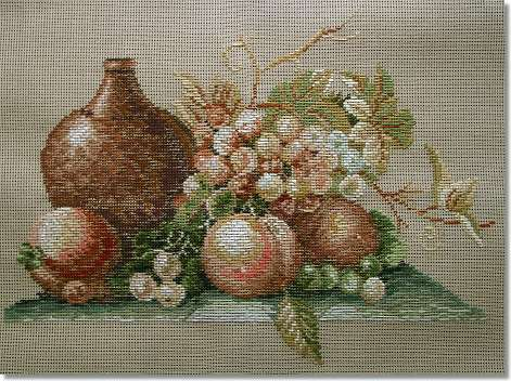 Beverley Trammed Tapestry: Still Life of Fruits with Urn