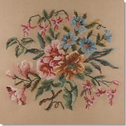 Beverley Trammed Tapestry: Floral Chair Seat #1