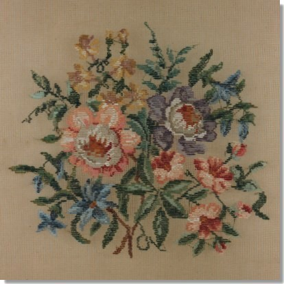 Beverley Trammed Tapestry: Floral Chair Seat #2