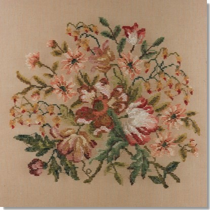 Beverley Trammed Tapestry: Floral Chair Seat #3