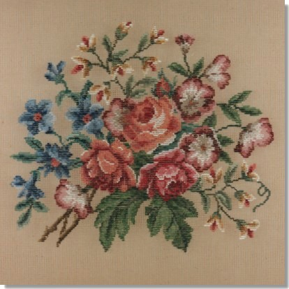 Beverley Trammed Tapestry: Floral Chair Seat #4
