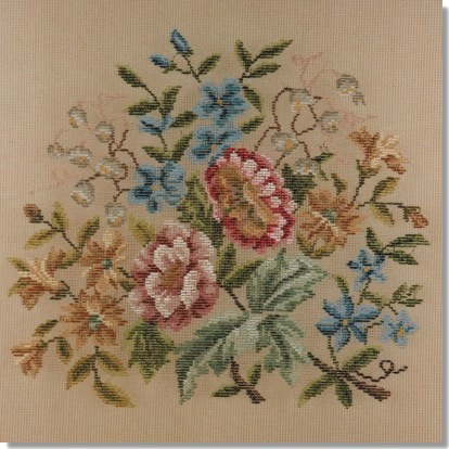 Beverley Trammed Tapestry: Floral Chair Seat #5