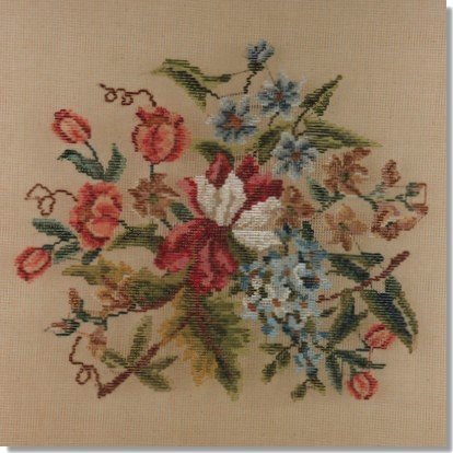 Beverley Trammed Tapestry: Floral Chair Seat #6