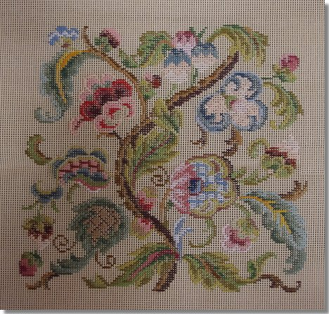 Beverley Trammed Tapestry:  Jacobean Chairseat
