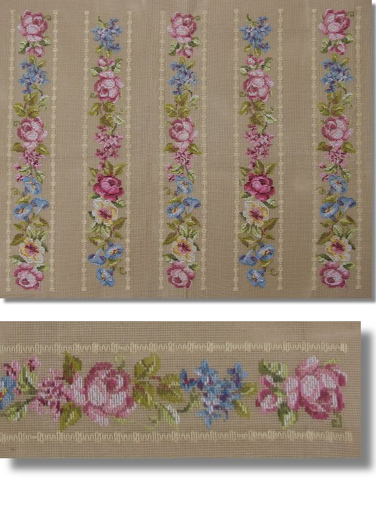 Beverley Trammed Tapestry: Floral Ribbon with Roses
