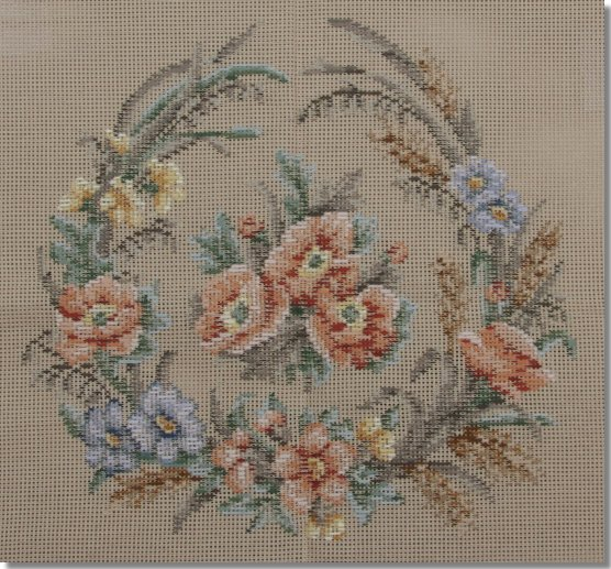 Beverley Trammed Tapestry: Floral Crescent - Apricot