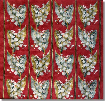 Beverley Trammed Tapestry: Lilly of the Valley Chairseat - Green