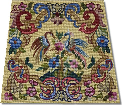 Beverley Trammed Tapestry: Chippendale Chair Seat with Petit Point #1