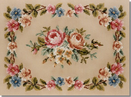 Beverley Trammed Tapestry: Floral blossom stool top