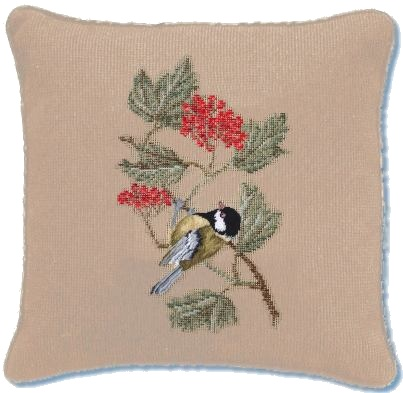 Beverley Trammed Tapestry: 'Great Tit on Redcurrant'
