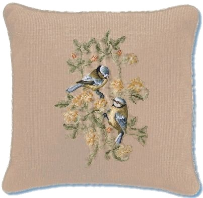 Beverley Trammed Tapestry: 'Bluetits on Forsythia'