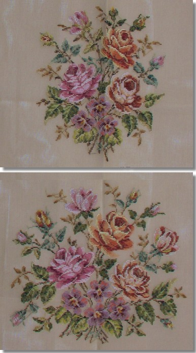 Beverley Trammed Tapestry: Floral Chair Seat Set
