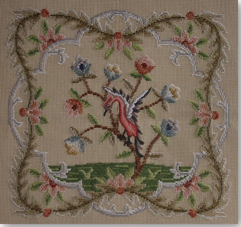 Beverley Trammed Tapestry: Chippendale Chair Seat with Petit Point #3
