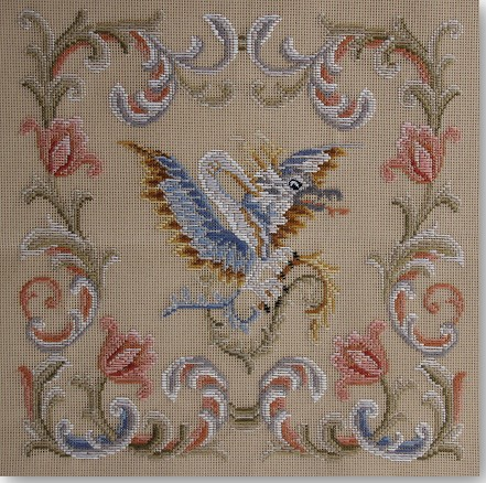 Beverley Trammed Tapestry: Chippendale Chair Seat with Petit Point #4