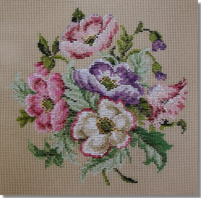 Beverley Trammed Tapestry:  Anemone Bouquet