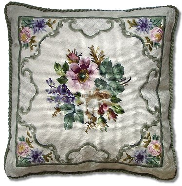 Beverley Trammed Tapestry: Floral Spray with Border