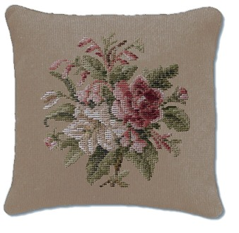 Beverley Trammed Tapestry: Small Pink & White Posy