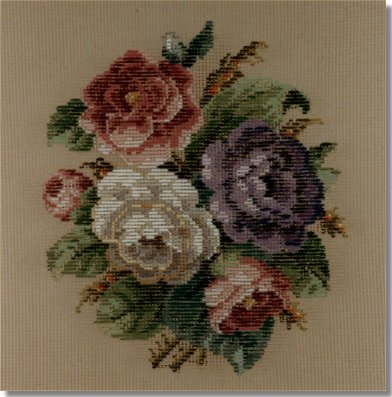 Beverley Trammed Tapestry:  Small floral spray #1